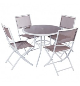 Baštenski set sto i 4 stolice Sorento