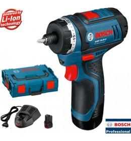 Akumulatorski odvrtač Bosch Professional GSR 10,8-LI + L-BOXX