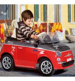 Auto na akumulator Fiat 500 6v Grigio sa daljinskim upravljačem