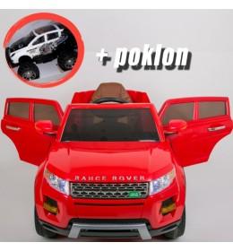 Automobil na akumulator Land Rover Crveni