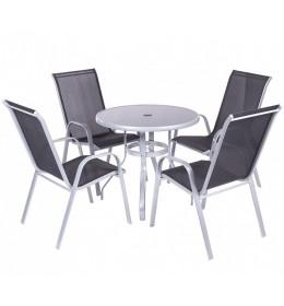 Baštenska Garnitura Black 4 stolice