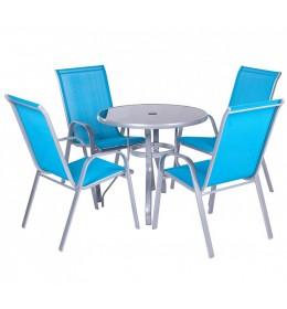 Baštenska Garnitura Blue 4 stolice