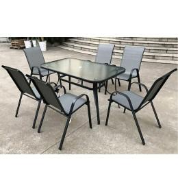Baštenska garnitura Majorka sto + 6 stolica