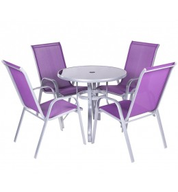 Baštenska garnitura Purple 4 stolice