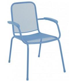 Baštenska metalna stolica Lopo plava