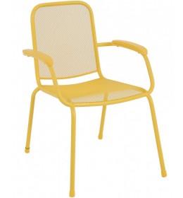 Baštenska metalna stolica Lopo žuta