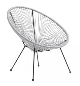 Baštenska stolica Lounge siva