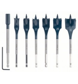 Bosch 7-delni set pljosnatih burgija za glodanje Self Cut Speed