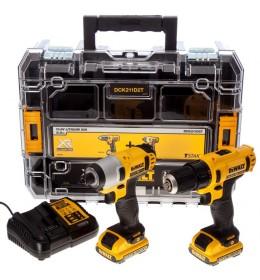 DeWALT akumulatorska bušilica set DCK211D2T