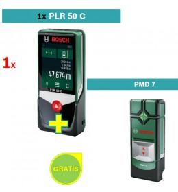 Digitalni laserski daljinomer Bosch PLR 50 C + Detektor metala Bosch PMD 7