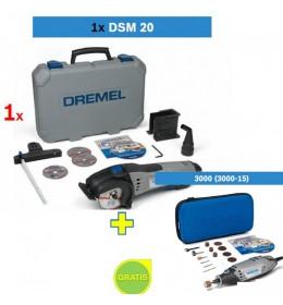 Dremel sekač DSM 20 + poklon Višenamenski alat DREMEL 3000 sa 15 kom pribora