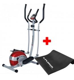 Eliptični trenažer Xplorer Elipse + Prostirka za vežbanje Xplorer 3 mm crna