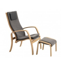 Fotelja sa tabureom WOOD