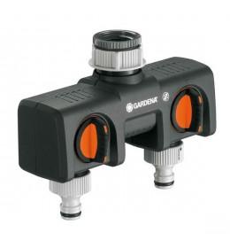 Gardena razvodni 2-kanalni ventil 1 ili 3/4 na 2 x 1/2
