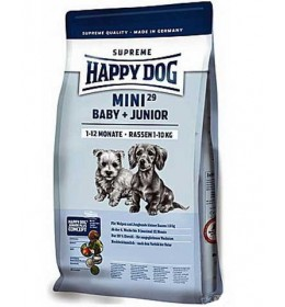 Hrana za štence Happy Dog Mini Baby & Junior 29 pak. 4kg + 1kg GRATIS