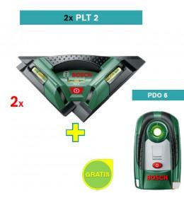 Laser za pločice Bosch PLT2 2 kom + Bosch PDO 6 detektor metala