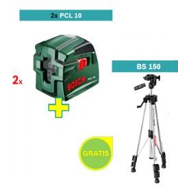Laser za ukrštene linije Bosch PCL 10+ stativ Bosch BS 150