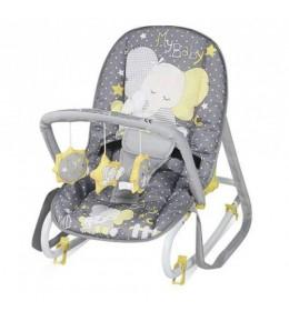 Ležaljka ljuljaška za bebe Top Relax Silver Elephants