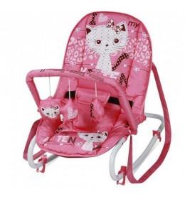 Ležaljka ljuljaška za bebe Top Relax Pink Kitten