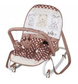Ležaljka ljuljaška za bebe Top Relax Beige Friends
