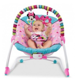 Ležaljka ljuljaška za bebe Minnie Mouse Peek-a-Boo