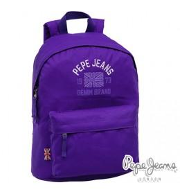 Ranac za školu Pepe Jeans Denim Brand Purple