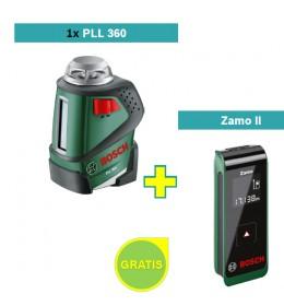 Samonivelušući laser za linije Bosch PLL 360  + Digitalni laserski daljinomer Zamo II
