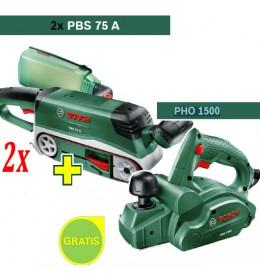 Tračna brusilica Bosch PBS 75 A + Električno rende Bosch PHO 1500