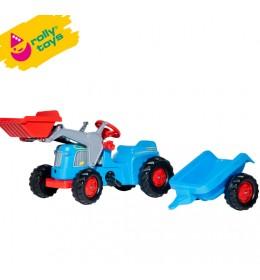 Traktor na pedale sa prikolicom i utovarivačem Rolly Kiddy Classic