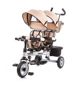 Tricikl za blizance Chipolino Apollo Bež